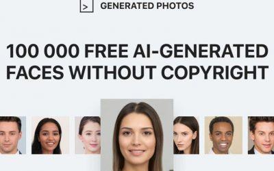 Generated Photos : 100 000 visages générés par intelligence artificielle en accès libre !